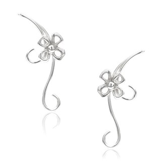 Journee Collection Sterling Silver Flower Earrings