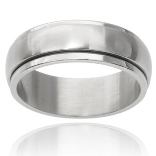 Vance Co. Men's Stainless Steel Spinner Band (8 mm)