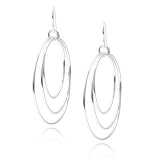 Journee Collection Sterling Silver Circle Earrings