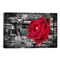 iCanvas  ART Rose In City Canvas Print Wall Art