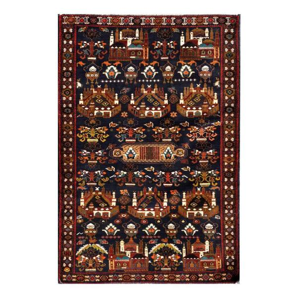 Herat Oriental Afghan Hand-knotted 1960s Semi-antique Tribal Balouchi Wool Rug (3'11 x 5'9)
