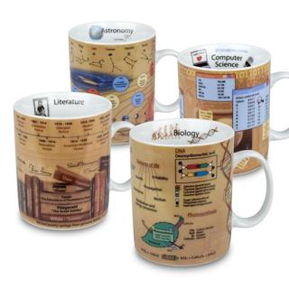 Konitz Assorted Mugs Science - Astronomy, Biology, Literature, Computer Science (Set of 4)
