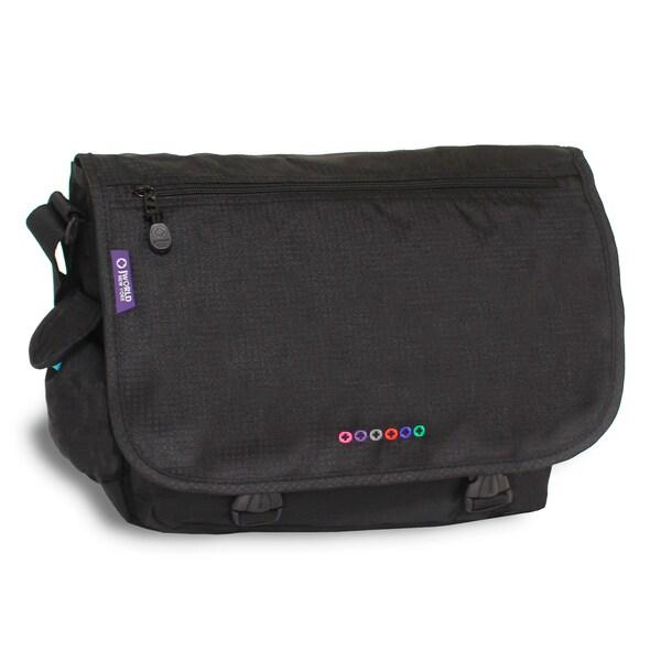 Jworld New York Black Terry Messenger Bag