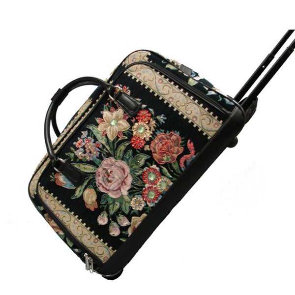 Mellow World Flower Shop Tapestry Rolling Duffel - Free Shipping Today - Overstock - 16419109