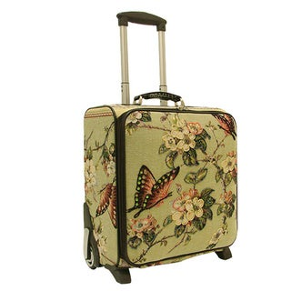Mellow World Butterfly Rolling 17-inch Carry-on Suitcase