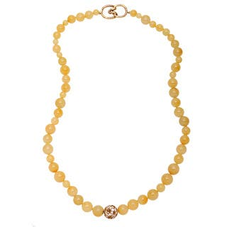 Pre-owned Tiffany & Co. 18k Yellow Gold 2 1/4ct TDW Diamond and Moss Agate Necklace (G-H, VS1-VS2)|https://ak1.ostkcdn.com/images/products/9253629/P16419100.jpg?impolicy=medium