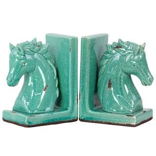 Stoneware Horse Bookend