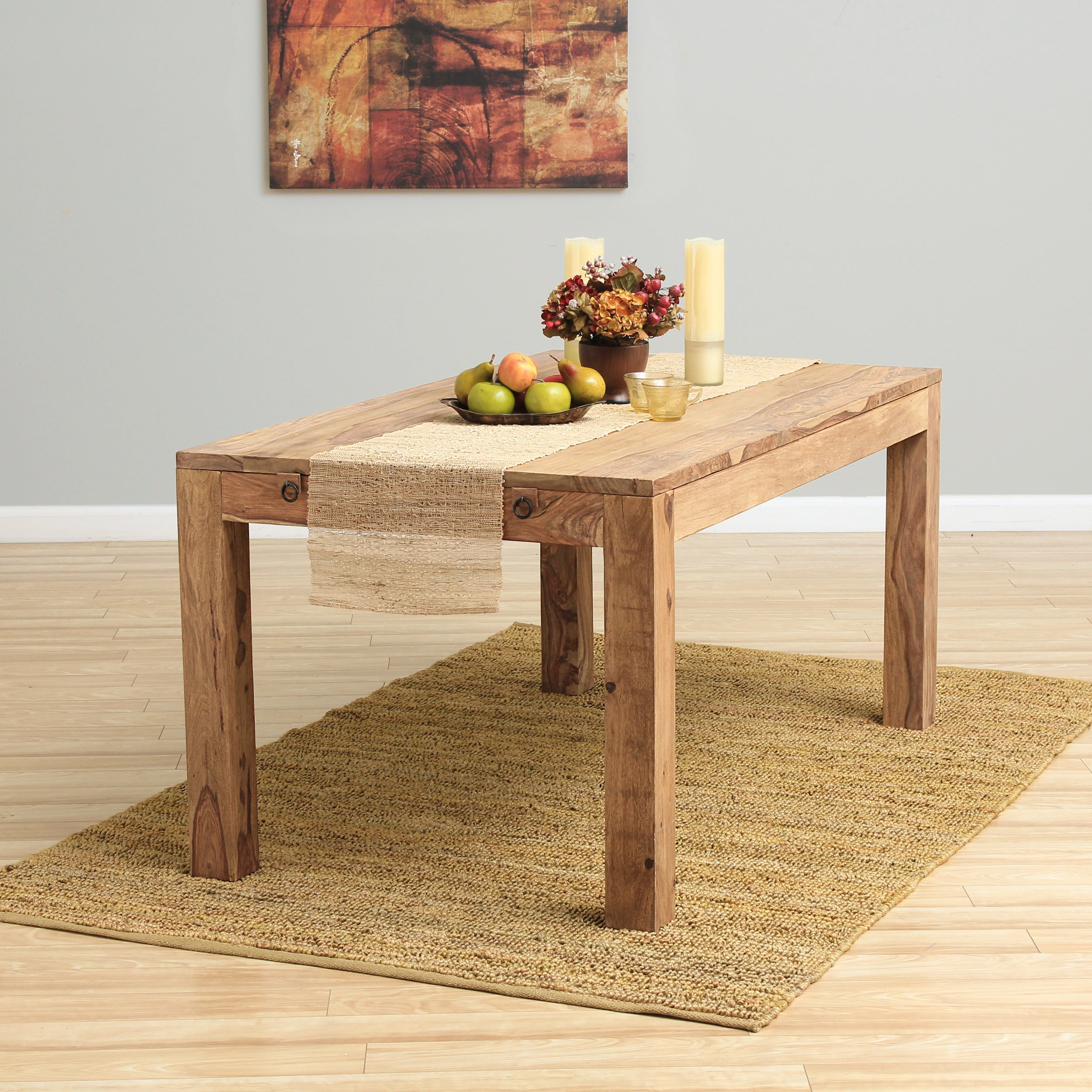 Shop Handmade Vintage Style Extendable Wooden Dining Table India Overstock 9253839