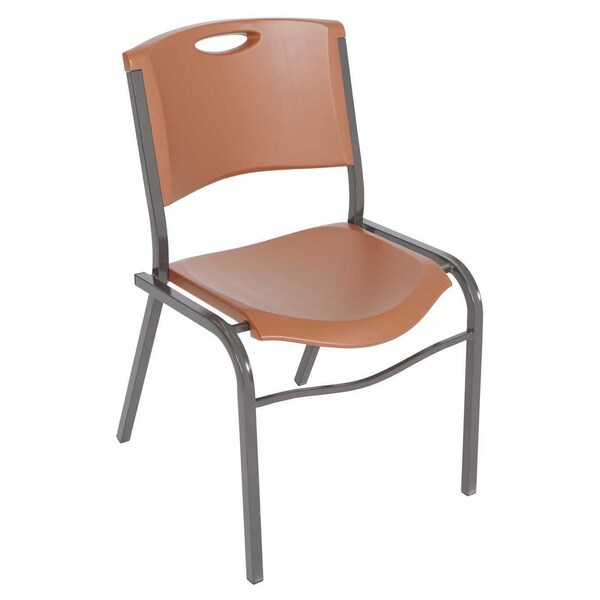 Lifetime Brown Stacking Chairs Set Of 14 Free Shipping Today 9253845