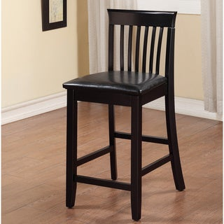 Linon Piedmont Black Slat Back Counter Stool