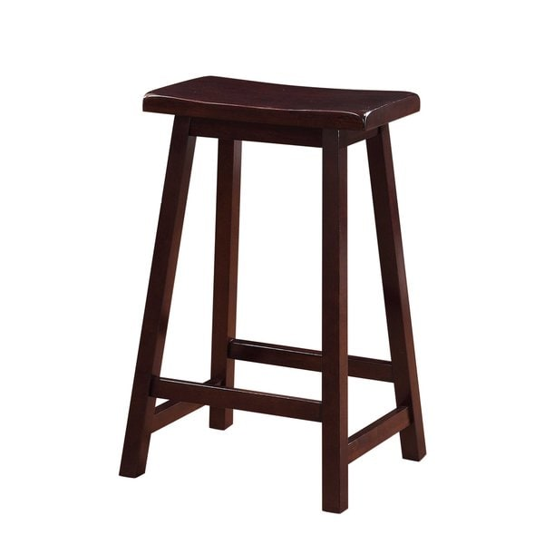 Linon Curved Seat Backless Stationary Counter Stool Free