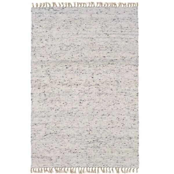 Linon Verginia Berber Natural/ Black Area Rug (5'3 x 7'6) - 5' x 8'