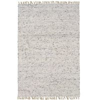 Linon Verginia Berber Natural/ Black Area Rug (5'3 x 7'6) - 5' x 8'