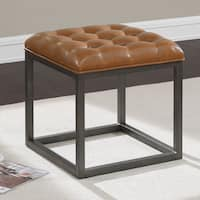 Jasper Laine Healy Saddle Brown Mini Ottoman