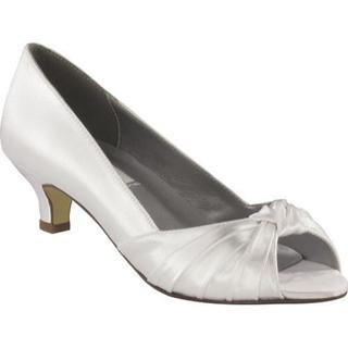 Women's Dyeables Becky White Satin (More options available)