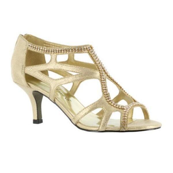 Shop Women's Easy Street Flattery - Easy Flex Gold Polyurethane/Rhinestones - Flattery - 9257923 5e1e86