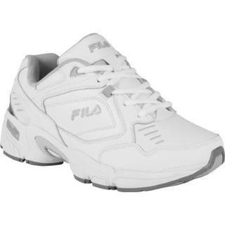Women s Fila Memory Comfort Trainer White White Metallic Silver 89d7c411a