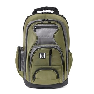 Ful Free Fallin' Green Padded Laptop Backpack for up to 17-inch Laptops