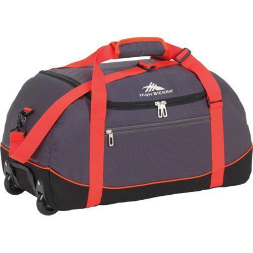 bbcb367a9980 Shop High Sierra Wheel-N-Go Mercury Black 24-inch Rolling Duffel Bag ...