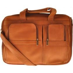 Millennium Leather Vaqueta Contemporary Laptop Briefcase Tan Vaqueta Napa