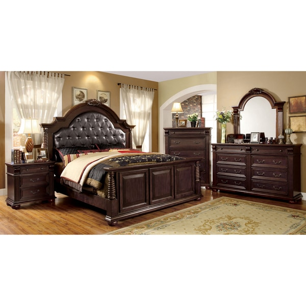 of america angelica english style brown cherry 4 piece bedroom set