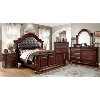 traditional bedroom furniture. Furniture Of America Angelica English Style Brown Cherry 4-piece Bedroom Set Traditional I