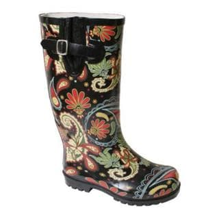 Women's Nomad Puddles Black Multi Paisley