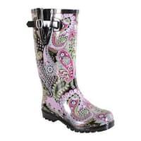 Women's Nomad Puddles Pink/Lime Paisley