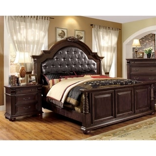 Furniture of America Angelica English Style Brown Cherry 2-piece Bedroom Set