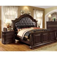Angelica English Brown Cherry 2-Piece Bedroom Set by FOA