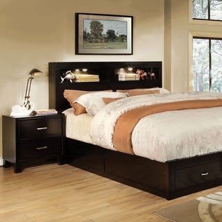 Furniture Of America Clement 2 Piece Storage Platform Bed With Nightstand Set