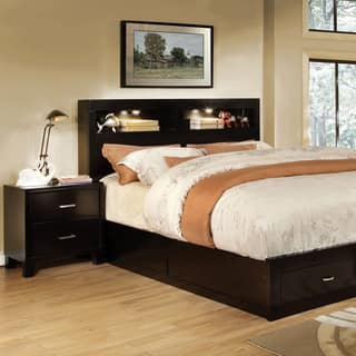 furniture of america clement 2 piece storage platform bed with nightstand sethttps