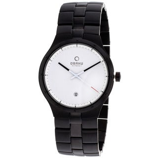 Obaku Men's Harmony Black Stainless Steel Watch