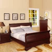 Gracewood Hollow Garner Smooth Transitional Sleigh Bed