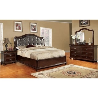 Furniture of America Qill Transitional Cherry 4-piece Bedroom Set
