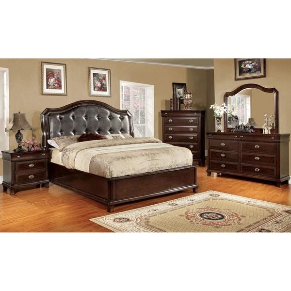 Furniture of America Crown 4-piece Platform Bedroom Set