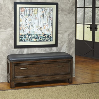 Home Styles Crescent Hill Upholstered Storage Bench