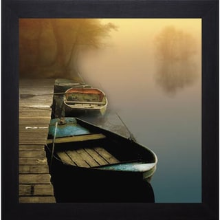 Link to Steven Mitchell 'Misty Boats' Framed Artwork Similar Items in Art Prints