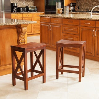 Nigel 24-inch Wood Counter Stool (Set of 2) by Christopher Knight Home