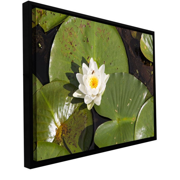 Cody York 'Lilly Pad' Floater-framed Gallery-wrapped Canvas - Multi