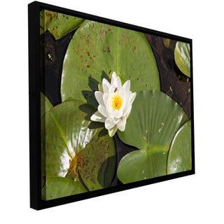 Cody York 'Lilly Pad' Floater-framed Gallery-wrapped Canvas