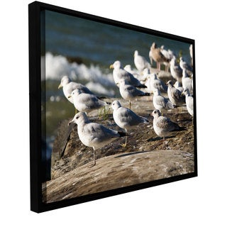 Cody York 'Pigeons' Floater-framed Gallery-wrapped Canvas