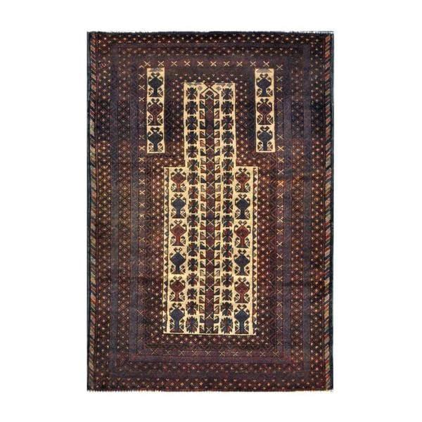 Handmade Herat Oriental Afghan 1960s Tribal Balouchi Wool Rug (Afghanistan) - 3'1 x 4'7