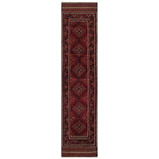 Handmade One-of-a-Kind Balouchi Wool Runner (Afghanistan) - 1'10 x 8'5