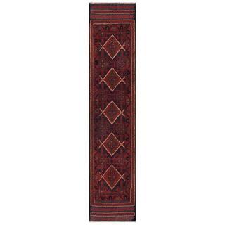 Handmade Herat Oriental Afghan 1960s Semi-antique Tribal Balouchi Wool Runner - 1'9 x 8'9 (Afghanistan)