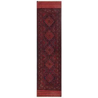 Herat Oriental Afghan Hand-knotted 1960s Semi-antique Tribal Balouchi Wool Runner (2'1 x 8'5)