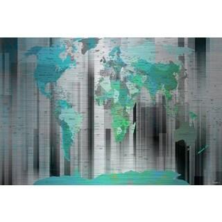 Parvez Taj 'Moon Shadow' Painting Print on Brushed Aluminum