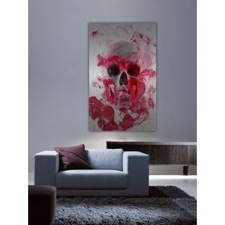 Parvez Taj 'Skull 2' Painting Print on Brushed Aluminum