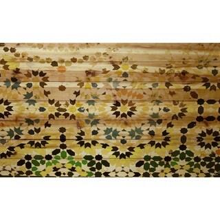 Handmade Parvez Taj - Tangier Print on Natural Pine Wood