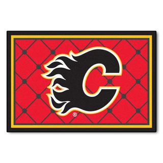 Fanmats NHL Calgary Flames Area Rug (5' x 8')